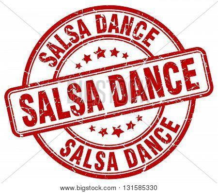 salsa dance red grunge round vintage rubber stamp.salsa dance stamp.salsa dance round stamp.salsa dance grunge stamp.salsa dance.salsa dance vintage stamp.
