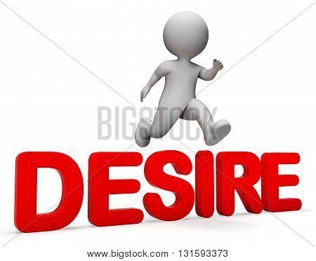 Attain Desire Representing Jump Achieve And Dream 3d Rendering poster