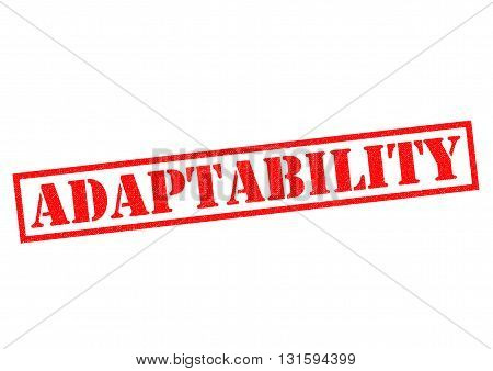 ADAPTABILITY red Rubber Stamp over a white background.