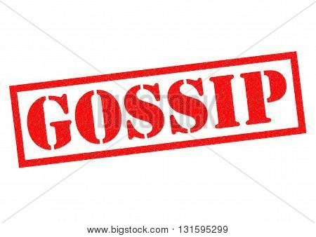 GOSSIP red Rubber Stamp over a white background.