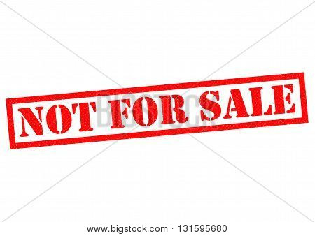 NOT FOR SALE red Rubber Stamp over a white background.