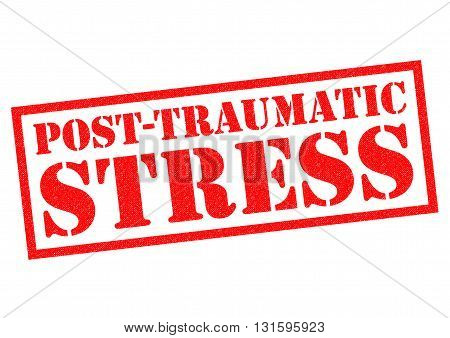 POST TRAUMATIC STRESS red Rubber Stamp over a white background.