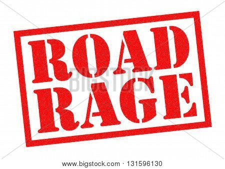 ROAD RAGE red Rubber Stamp over a white background.
