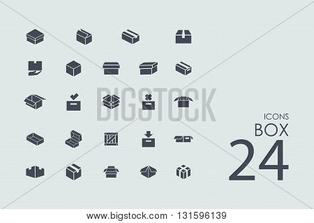 box vector set of modern simple icons