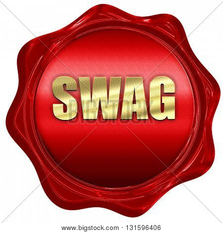 swag internet slang, 3D rendering, a red wax seal