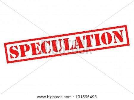 SPECULATION red Rubber Stamp over a white background.