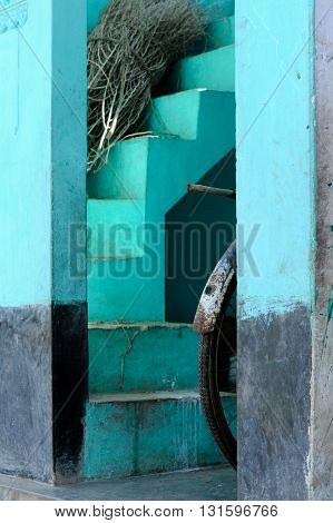 Architectural detail in a rural village in Orissa, India