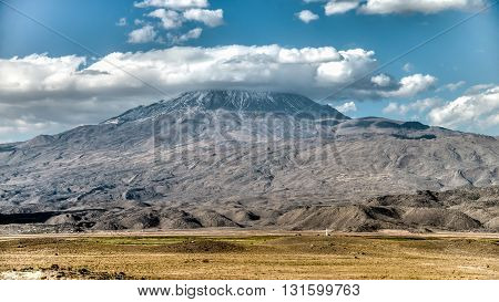Agri, Turkey - September 29, 2013: Greater Mount Ararat (Agri Dagi)