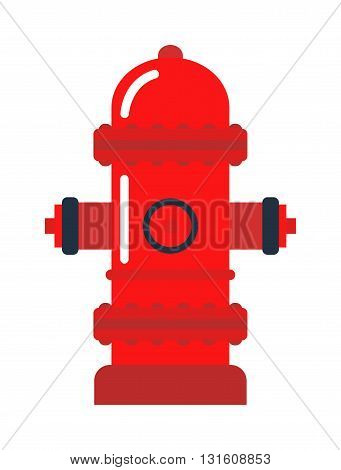 Vector illustration of fire hydrant. Safety fire hydrant. Emergency department fire hydrant and protection security fire hydrant. Street prevention danger pipe fire hydrant firefighter symbol.