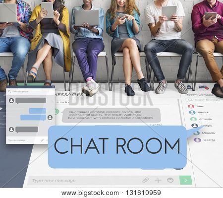 Chat Room Chatting Communication Connect Concept