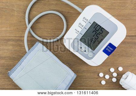 Measuring blood pressure Pulse Measuring heart rate.