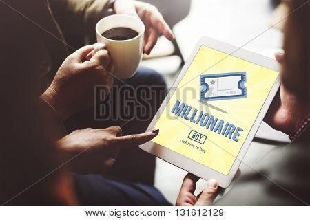 Millionaire Luxury Achievement Business Prize Concept
