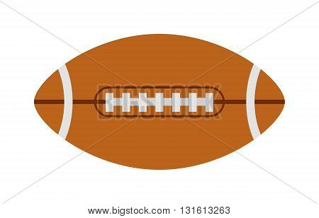 American football ball, rugby ball sport football team game vector. Rugby ball american sport league and rugby ball equipment and professional graphic touchdown rugby ball. Goal single oval ball.