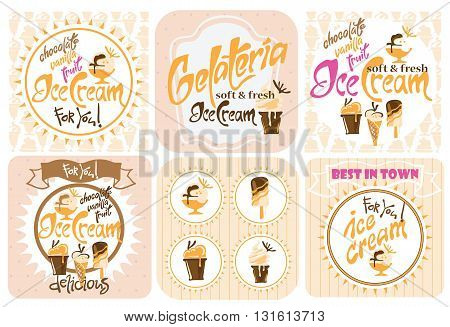 ice cream cart - vector illustrationIce Cream design elements. Vector illustration made in vintage style.
