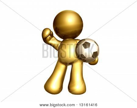 Gold soccer super star icon