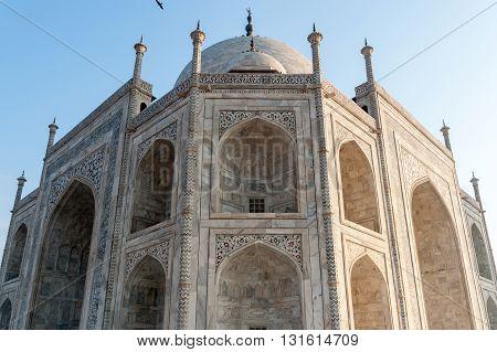 Taj Mahal low angle side view, Agra, India