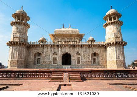 Itimad-ud-Daulah Tomb or Baby Taj in Agra Uttar Pradesh India.
