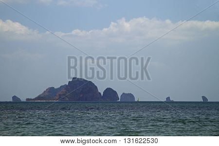 Scenery Stony Islands, View From Ao Nang, Thailand