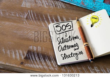 Handwritten Text Sos As Situations, Outcomes And Strategies