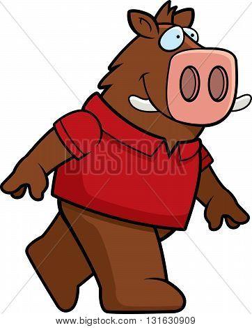 Boar Walking