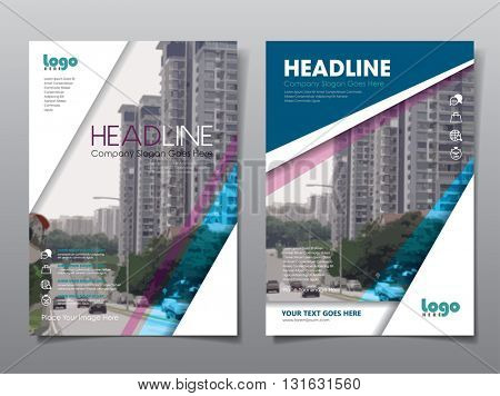 Annual report brochure flyer design template vector,  book cover layout design, Leaflet cover presentation abstract flat background, layout in A4 size
