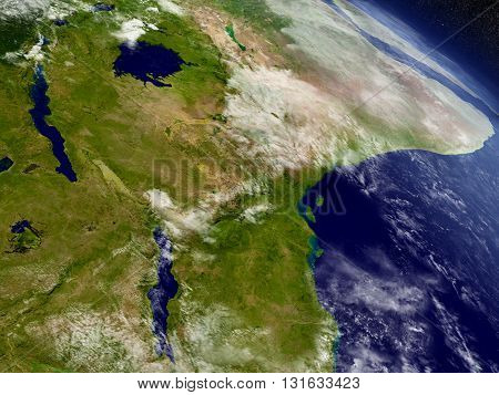 Tanzania From Space