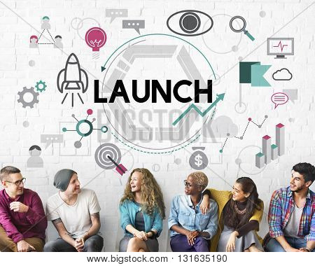 Launch Begin Introduce Kick Off New Business Concept