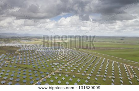 Solar Power Station in the field, Spain