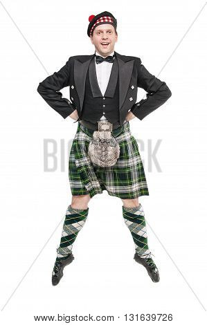 Young Man In Clothing For Scottish Dance