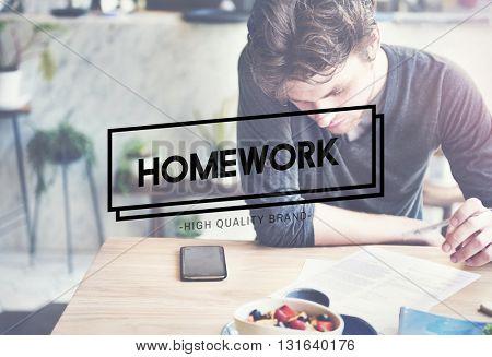 Homework Assignment Task Education Concept