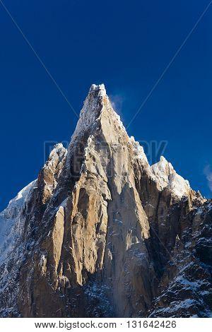 Aiguilles du Alpes from the Mer de Glace Chamonix Savoie Rhone-Alpes France