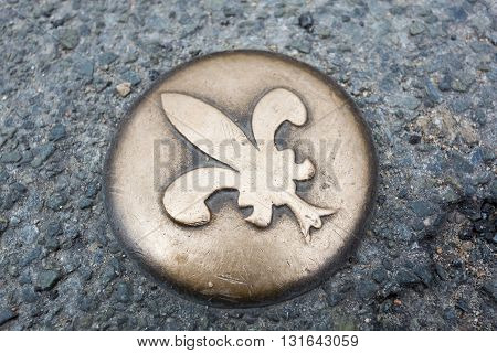 Emblem in the city of Blois Loire valley Loire et cher Centre France poster