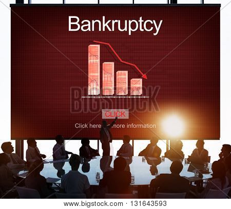 Bankruptcy Debt Loan Owed Payment Trouble Concept poster