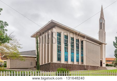 MIDDELBURG SOUTH AFRICA - MARCH 8 2016: The Dutch Reformed Mother Church in Middelburg in the Eastern Cape Karoo Region