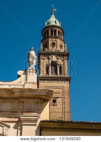 Campanile at Monastero di San Giovanni Evangelista in Parma, Italy