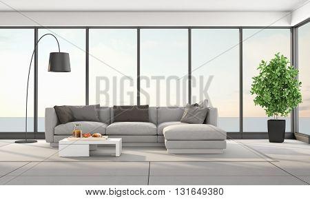 Contemporary Living Room Of A Holiday Villa