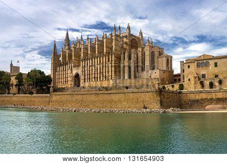 La Seu the gothic medieval cathedral of Palma de Mallorca Spain