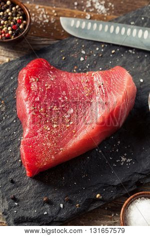 Raw Organic Pink Tuna Steak