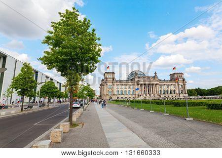 German Reichstag In Berlin, Germany