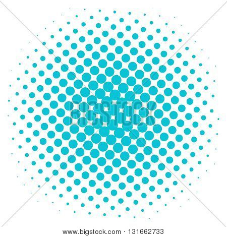Pop art dot background. Pop art halftone spotted element. Pop-art style dots illustration.Halftone blue color dot.Pop art dotted vector on white background.Cartoon pop art circle comic style bubble template
