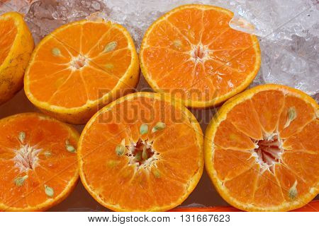 Healthy food background. Orange, แมน