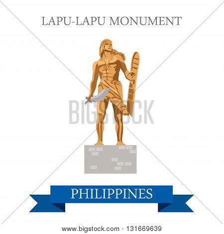 Lapu-Lapu Monument Mactan Island Philippines vector attraction
