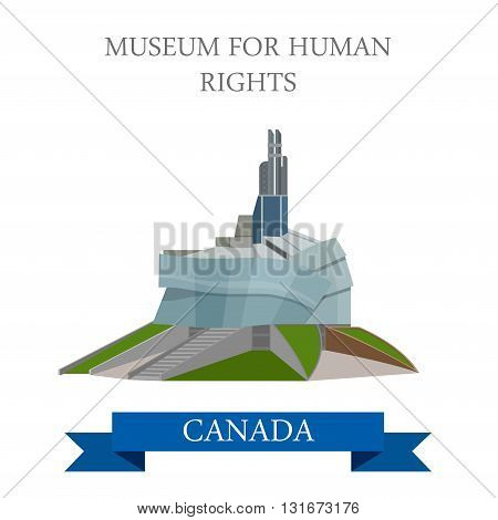 Museum for Human Rights CMHR Winnipeg Canada vector attraction