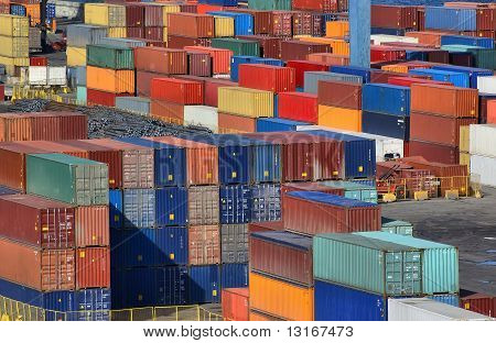Sea port container yard