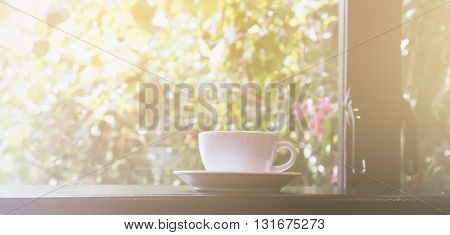 Cup Of Coffee In The Morning,selective Focus