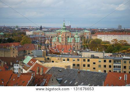 Rosenborg castle in autumn landscape of Copenhagen. Denmark poster