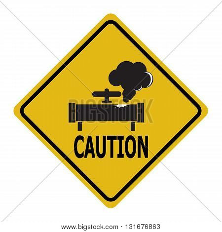 Gas leak warning sign. Pollution Gas Pipe icon sign