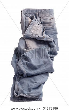 blue jeans isolated on a white background