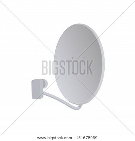 Satelite dish vector illustration. Satelite dish on white background. Satelite dish vector. dish isolated vector.