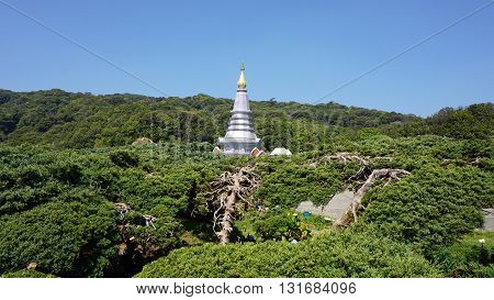Pagode At Doi Inthanon